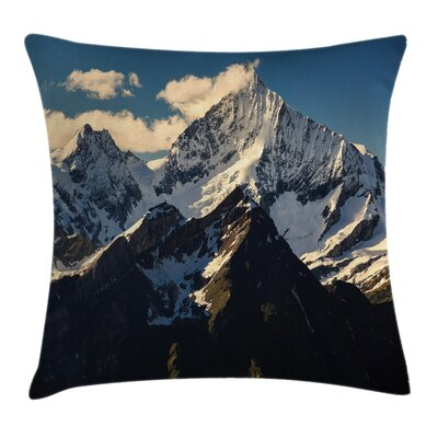 Nature View of Alps Mountain Square Pillow Cover Size: 20 x 20