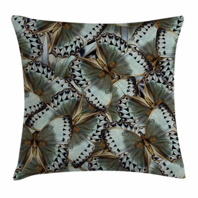 Exotic Butterflies Jungle Queen Square Pillow Cover Size: 16 x 16