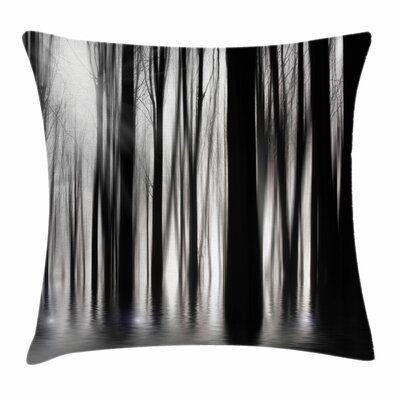 Abstract Woods Square Pillow Cover Size: 16 x 16