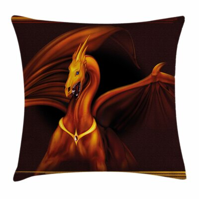 Dragon Legendary Tricorn Square Pillow Cover Size: 18 x 18