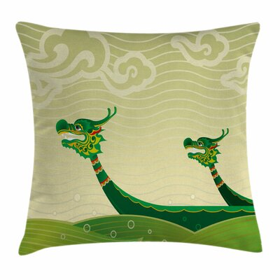 Dragon Tatsu Mythical Animal Square Pillow Cover Size: 18 x 18