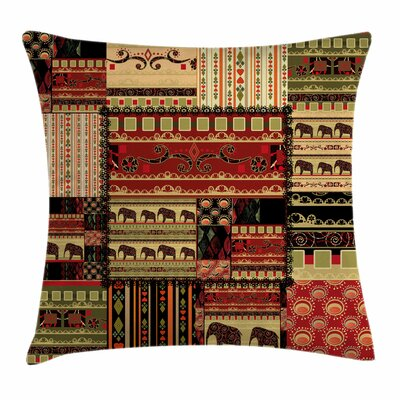African Patchwork Style Asian Square Pillow Cover Size: 16 x 16