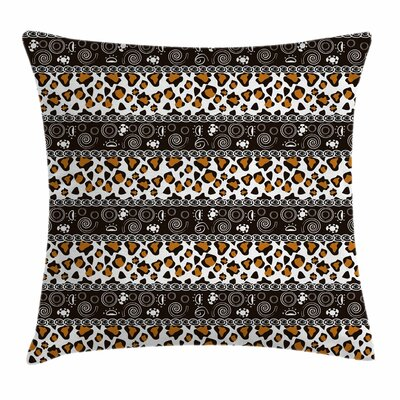 African Cheetah Pattern Square Pillow Cover Size: 24 x 24