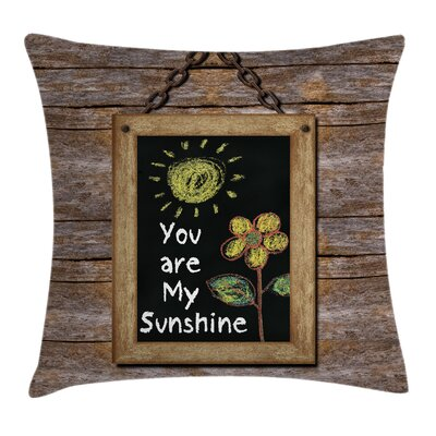 Love Quote onboard Square Pillow Cover Size: 20 x 20
