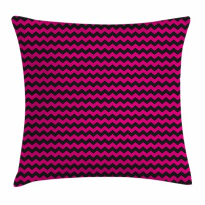 Teen Room Decor Chevron Curves Square Pillow Cover Size: 16 x 16