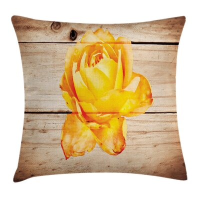 Rose Petals and Flowers Square Pillow Cover Size: 18 x 18