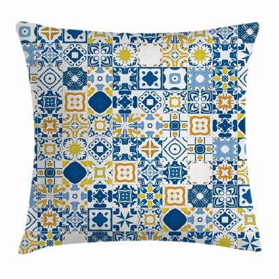 Mosaic Azulejo Square Pillow Cover Size: 16 x 16
