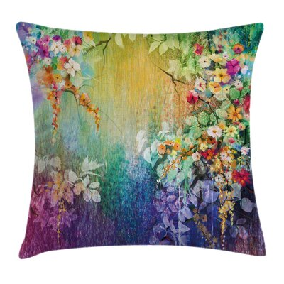 Ivy Floral Beauties Square Pillow Cover Size: 18 x 18