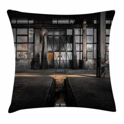 Derelict Place Square Pillow Cover Size: 16 x 16