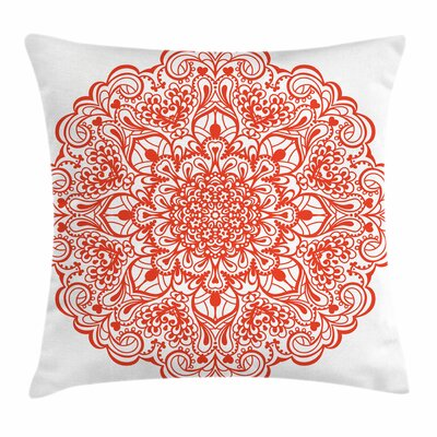 Arabesque Flourish Square Pillow Cover Size: 18 x 18