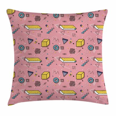 Memphis Style Figures Square Pillow Cover Size: 20 x 20