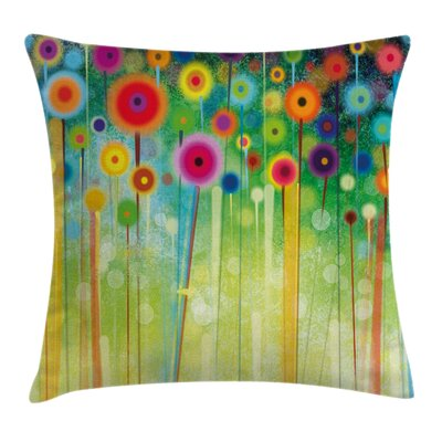 Abstract Art Dandelion Square Pillow Cover Size: 20 x 20