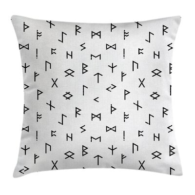 Anatolian Tribal Symbols Square Pillow Cover Size: 24 x 24