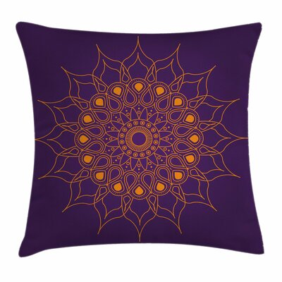 Mandala Mystic Sun Icon Square Pillow Cover Size: 18 x 18