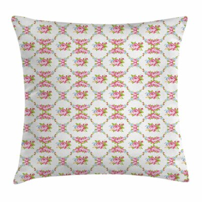 Curvy Borders Square Pillow Cover Size: 18 x 18