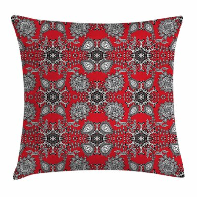 Paisley India Decor Square Pillow Cover Size: 18 x 18