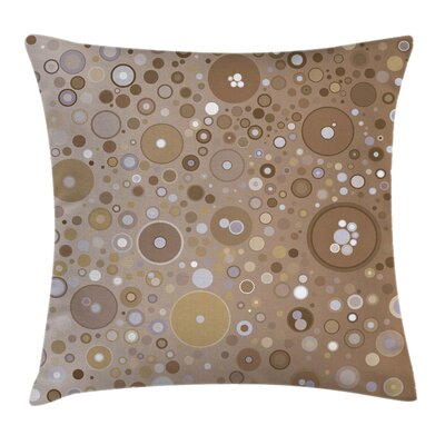 Bubble Like Circles Dots Square Pillow Cover Size: 24 x 24
