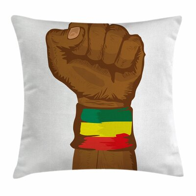 Rasta Ethiopian Flag Colors Square Pillow Cover Size: 16 x 16