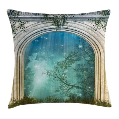Forest Fairytale Door Stars Square Pillow Cover Size: 20 x 20