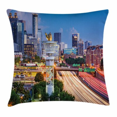 United States Atlanta Georgia Square Pillow Cover Size: 16 x 16