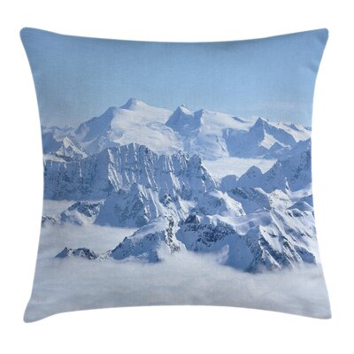 Winter Alps Wilderness Square Pillow Cover Size: 24 x 24