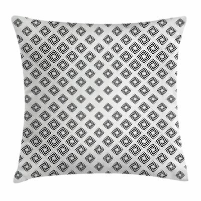 Abstract Geometric Inner Square Square Pillow Cover Size: 24 x 24
