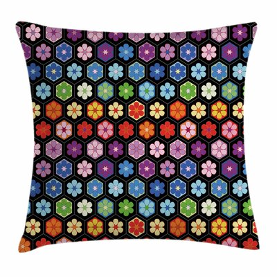 Daisy Blooms Square Pillow Cover Size: 24 x 24