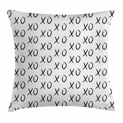 Xo Decor Affection Expression Square Pillow Cover Size: 18 x 18