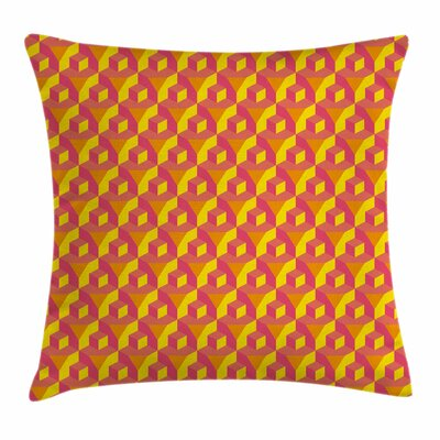 Cube Prisms Hipster Square Pillow Cover Size: 16 x 16
