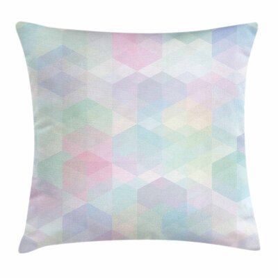Pastel Artistic Hexagonal Soft Square Pillow Cover Size: 18 x 18
