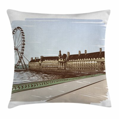 London Buckingham Palace Art Square Pillow Cover Size: 16 x 16