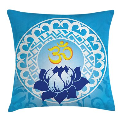 Indian Spiritual Sign Art Square Pillow Cover Size: 16 x 16
