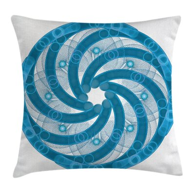 Abstract Fractal Artsy Square Pillow Cover Size: 18 x 18