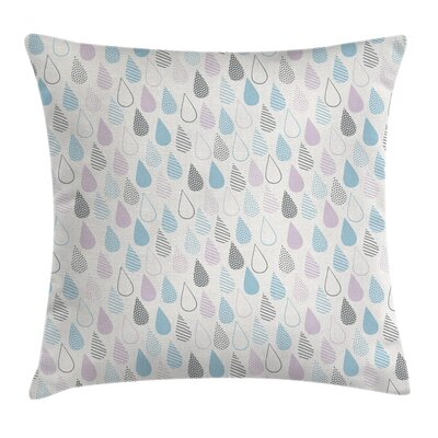 Elegant Droplets Artsy Square Pillow Cover Size: 18 x 18