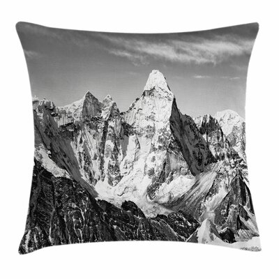 Mountain Peaks Square Pillow Cover Size: 18 x 18