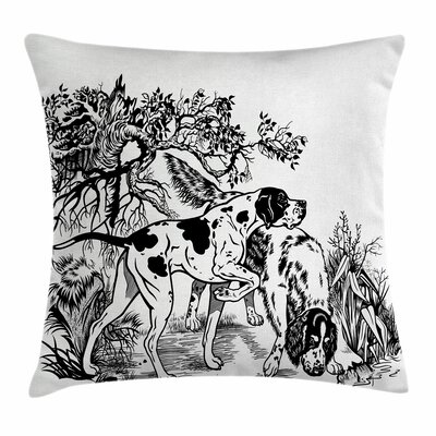 Dogs Pillow Cover Size: 18 x 18
