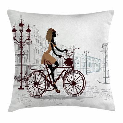 Teen Room Decor Girl Square Pillow Cover Size: 16 x 16