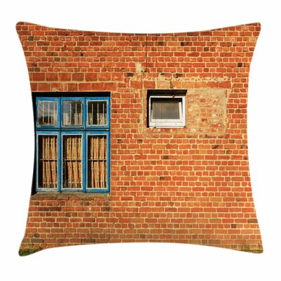 Old Windows Square Pillow Cover Size: 24 x 24