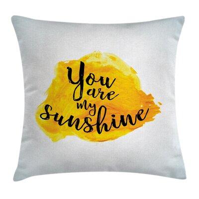 Love Romantic Square Pillow Cover Size: 18 x 18