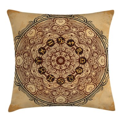 Eastern Mandala Zodiac Square Pillow Cover Size: 24 x 24