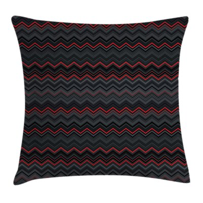 Chevron Layers Square Pillow Cover Size: 18 x 18