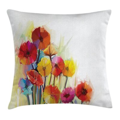 Gerbera Flower Romance Square Pillow Cover Size: 18 x 18