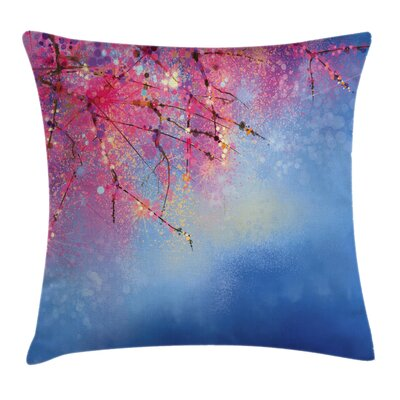 Sakura Spring Square Pillow Cover Size: 18 x 18