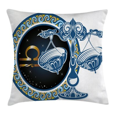 Zodiac Libra Astrological Square Pillow Cover Size: 24 x 24