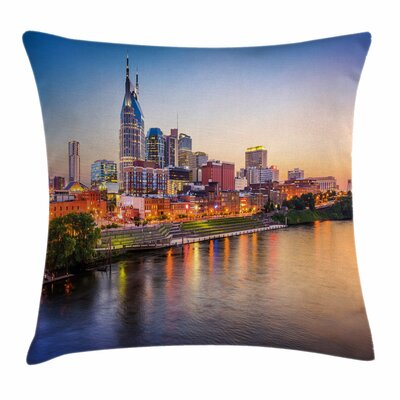 United States Cumberland River Square Pillow Cover Size: 16 x 16
