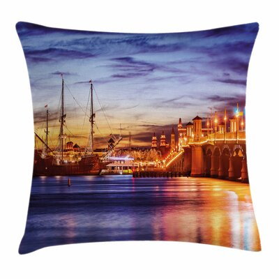 United States St. Augustine Square Pillow Cover Size: 16 x 16