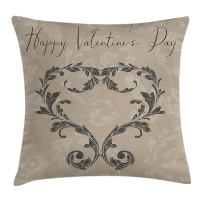 Valentines Day Square Pillow Cover Size: 24 x 24