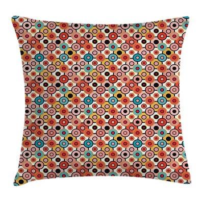 Vintage Retro Style Bubbles Square Pillow Cover Size: 16 x 16