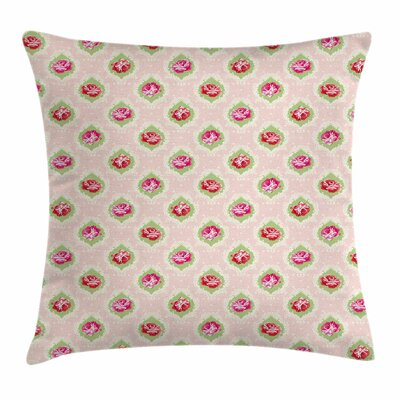 Rose Damask Square Pillow Cover Size: 18 x 18
