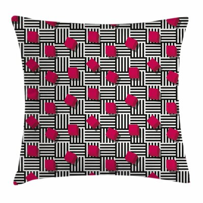 Teen Room Decor Geometric Art Square Pillow Cover Size: 18
